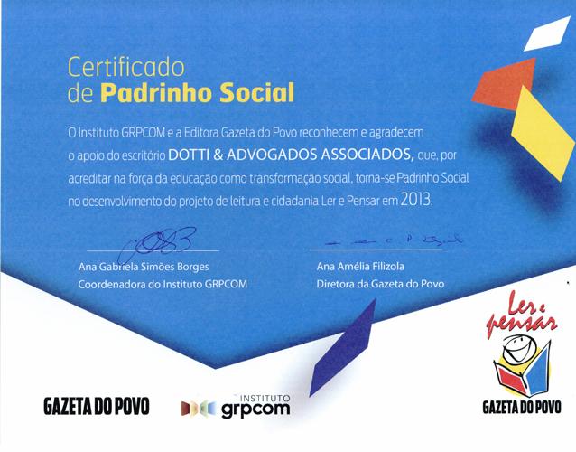 DiplomaProjetoSocialGazetadoPovo